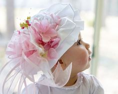 Pale Pink Spring, Easter, Tea Party, Fascinator Hat
