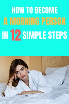 How to become a morning person. To be a morning person, it's simpler and easier to accomplish than you think. Health And Fitness Tips, Fitness Goals, Fitness Motivation, Fitness Plan, Wellness Tips, Health And Wellness, Natural Teething Remedies, Natural Remedies, All Family