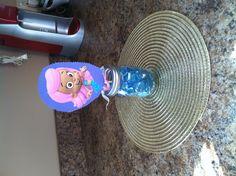 Bubble guppy bday party center piece/balloon weight