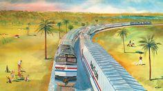 Amtrak wall calendar, 1984.