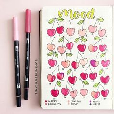 do a mood check every week ? Bullet Journal Tracker, Bullet Journal School, Bullet Journal Mood Tracker Ideas, Bullet Journal Banner, Bullet Journal Writing, Bullet Journal Aesthetic, Bullet Journal Ideas Pages, Bullet Journal Inspiration, Bullet Journal Contents