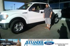 I am very satisfied with the deal I received and the way my salesman Willy Espinoza helped me, I would diffidently recommend him and the dealership. - Roberto Bojorquez,Tuesday, October 28, 2014  http://www.billalexanderford.com/?utm_source=Flickr&utm_medium=DMaxxPhoto&utm_campaign=DeliveryMaxx
