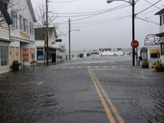 early morning tide   main street, greenport   hurricane sandy   october 2012