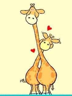 Fondos animados con jirafas.