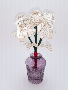 Are you ready for Valentines Day? Excite your special someone with this long-lasting, paper bouquet handcrafted from the pages of Stephenie