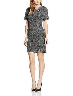 44, Black (Black 2999), Tom Tailor Women's Cool Bouclé Dress NEW