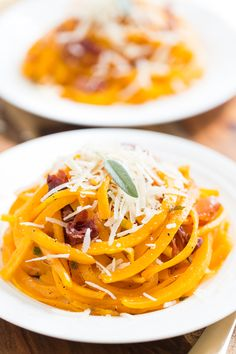 Roasted Butternut Noodles with Crispy Prosciutto, Browned Butter, and Sage | Get Inspired Everyday!