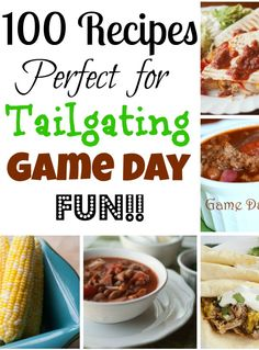 100 Tailgating Recipes for your Game Day Event  | All She Cooks | #gameday #tailgating #gamedayrecipes #tailgatingrecipes
