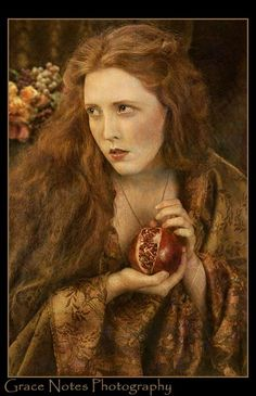 Persephone: Rossetti Tribute by Athansor on deviantART Redhead Costume, Hades And Persephone, Grenade, Pre Raphaelite, Gods And Goddesses, Belle Photo, Fine Art Photography, Harley Davidson, Contemporary Art