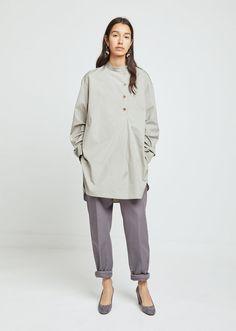 Asymmetrical Poplin Shirt
