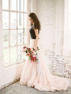 Moody Marsala Wedding Inspiration At Industrial Loft - Weddingomania