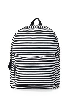 Striped Canvas Backpack   FOREVER21 #Accessories #Backpack