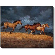 """Thunder Ridge (Horses)"" Wrapped Canvas Art"