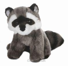 "Douglas Ranger RACCOON 8"" Plush Sitting Stuffed Animal Realistic Toy NEW #DouglasCuddleToy"