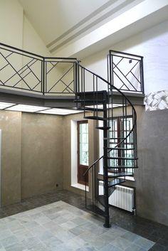 Винтовая лестница, перила металлические Метал Мэйд: http://www.metal-made.ru/production/