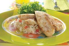 Filete de pescado al mojo de ajo