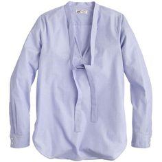 Collection Thomas Mason® for J.Crew secretary blouse ($168) found on Polyvore