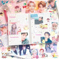 instagram: winkoberry ♡ birthday spread for nct renjun, red velvet irene, and exo's xiumin ☆彡 [ kpop journal #kpopjournal #journal #nct #exo #redvelvet #bujo #bulletjournal ]