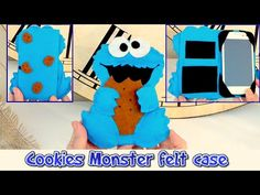 DIY crafts: mobile felt case like the Cookie Monster, easy crafts - handmade - Youtube - Isa ❤️ - YouTube