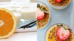 Panna cotta med appelsin og pasjonsfrukt