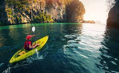 Paddling the kayak in the calm bay with limestone mountains #kayaking #kayak #paddle #paddling #river #sea #water #lake #kayaks #kayaklife #riverlife #canoe #canoelife #saltlife #kayakgram #kayakadventures #paddleboarding #paddleboard #paddlinglife #paddlesurf #outdoor #adventure #activelife #motivation #lifestyle #outdoorliving #freedom⠀ .⠀ Share your adventure #feastenture