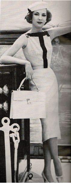 Oleg Cassini dress, Vogue 1957