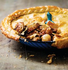 Beef-and-beer pie with slow-roasted cipollini onions