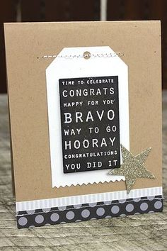 How to stamp to get the chalkboard look--stamp words with clear embossing powder on white cardstock and then add black or charcoal ink with a blending toolover the top