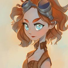 Another sketch I did during bed rest a few days ago. I might have a thing for #Steampunk #illustration (based off a photo) by lazyfish11