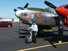 Col. Bill Harris, 94 years old, is a WWII ace with fifteen aerial kills of Japanese aircraft, and flew the mission that shot down and killed Japanese Admiral Yamamoto. This Lockheed P-38 Lightning is painted exactly like the one he flew in the Pacific.