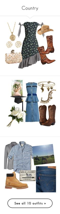 """""""Country"""" by stay-gold4 ❤ liked on Polyvore featuring House of Holland, Durango, 2028, Charlotte Russe, Peter Grimm, Alexander McQueen, Ariat, Sweet Romance, National Tree Company and country"""