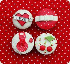 Rockabilly cupcakes by Maria Olejniczak, via Flickr