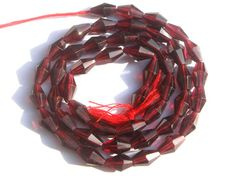 Garnet Faceted Dholki Semiprecious Gemstone by beadsogemstone, $11.00