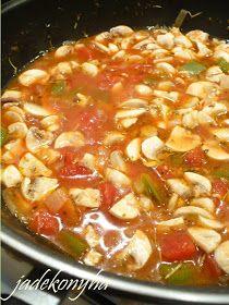 Jade konyhája: Betyárgombóc nokedlivel Hungarian Recipes, Chili, Food And Drink, Nap, Cooking Recipes, Erika, Chile, Chilis