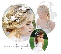 Sweet Violet Bride - http://sweetvioletbride.com/2012/12/romantic-rustic-wedding-hairstyles/