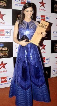 Kriti Sanon at the Big Star Entertainment Awards 2014.