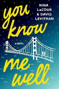 books4yourkids.com: You Know Me Well by David Levithan and Nina LaCour, 256 pp, RL: TEEN. It's the start of Pride Week in San Francisco and, when they spot each other at a bar in the Castro, high school students Mark & Kate become fast friends in the face of challenges with their longtime best friends. With the backdrop of Pride Week festivities, the two work through broken hearts, fear of the future, fear of failure, coming out, a poetry slam and a gallery opening.