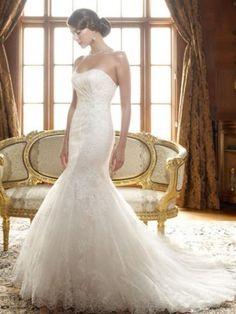 Pin It To Win It - Casablanca Bridal 1995 Wedding Dress  - #pinittowinit www.madamebridal.com