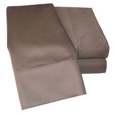 Simple Luxury Cotton Rich 1000 Thread Count Olympic Queen Solid Sheet Set Color: Taupe