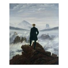 Customizable #Alone #Austria #Brume #Charles#Wilson #Cloud #Clouds #Contemplative #Direction #Foam #German #Germany #Landscape #Lonely #Male #Mist #Mountain #Northern#Europe #Nuage #Nuages #Physicist #Power #Rocks #Rocky #Romantic #Romanticist #Spray #Sublime #Voyageur #Waves #Weather The Wanderer above the Sea of Fog 1818 Poster available WorldWide on http://bit.ly/2is5RfM