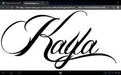 Kayla tattoo