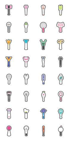 Kpop Lightstick Icon by Gradak on Kpop Stickers, Tumblr Stickers, Printable Stickers, Cute Stickers, Logo Sticker, Sticker Design, Kpop Wallpaper, Kpop Logos, Fandom Kpop