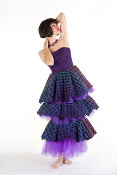 Patricia Paulson, ACE, #fiber wearable artist 2015 #purple #dress