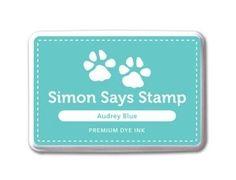 Simon Says Stamp Premium Dye Ink Pad AUDREY BLUE ink018