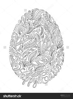 stock-vector-easter-egg-with-pattern-in-zentangle-style-coloring-book-for-adult-and-older-children-coloring-377014186.jpg (1176×1600)