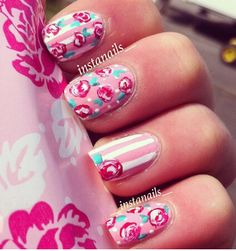 Credit for these pink lovelies @Nailux entreprise