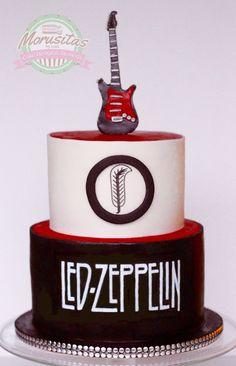 Led zeppelin cake idea for those rockers m/ #ledzeppelincake #rockercake