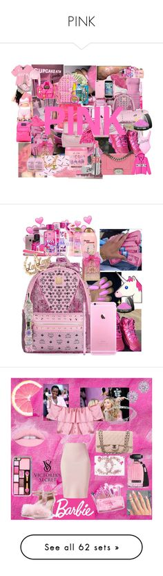 """PINK"" by rihababy on Polyvore featuring art, Victoria's Secret, Victoria's Secret PINK, Bobbi Brown Cosmetics, Huda Beauty, Topshop, Vans, Disney, interior and interiors"