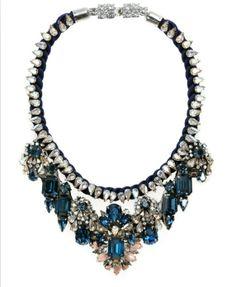 Shourouk Luxurious Swarovski Crystal Rock Style Necklace Free Shipping