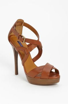 Not really my style but beautiful and only $350...LOL!  Ralph Lauren Collection 'Jesita' Sandal available at #Nordstrom